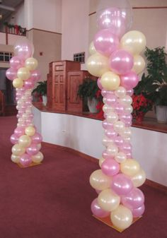 Balloon Column. #balloon-column #balloon-decor #balloon-wedding-decor…