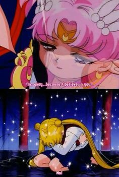 Sailor Stars is definitely my favorite season. This scene is so heartbreaking, though.