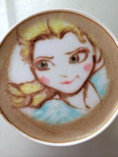 Elsa Latte art