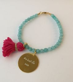 24Kgold bracelet made with precious  jade by quiaimelesetoiles