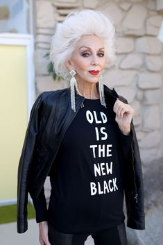 99f25ae4b1c88 Old Is The New Black T-shirts Now Available in Black  maturemodel Fashion  Moda