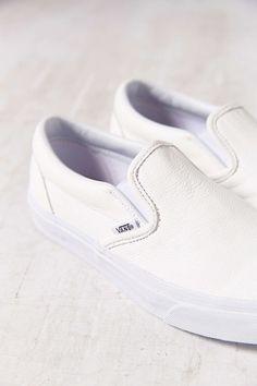 urbnite:  Vans Premium Leather Slip Ons