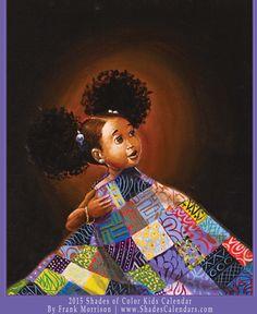 Art by Frank Morrison | www.ShadesCalendars.com — 2015 African American Kids Calendar