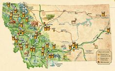 Montana Beer! Need to bring this map this summer for our Montana trek,