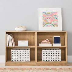 Luxury Bedding Sets On Sale Decor, Small Bookcase, Pottery Barn Kids Backpack, Wood Bookshelves, Study Furniture, Bedroom Design, Shelves, Kids Book Storage, Bookcase Decor