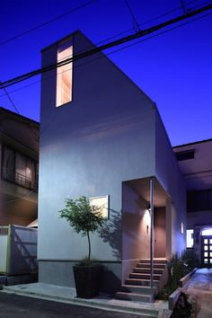 Kagurazaka House is a minimal home located in Tokyo, Japan, designed by FEDL.