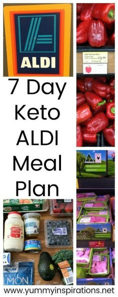 7 Day Keto ALDI Meal Plan - A week of meals and list of ideas for the Low Carb Ketogenic Diet making use of products you'll find while grocery shopping at ALDI. by marquita