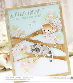 Hello everyone, Joni here sharing these cute images from Curious Forest Friends and Forest Friends and combining it with an old favorite -...