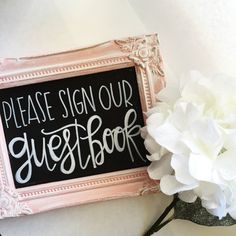 Please Sign Our Guestbook Wedding Guestbook by samanthajozette