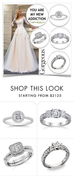 """APPLES OF GOLD-DIAMOND ENGAGEMENT RINGS"" by kiveric-damira ❤ liked on Polyvore featuring gold, perfect, beautiful, diamond and applesofgold"
