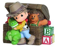 Precious Moments, Disney Showcase Collection, Toy Story, Resin Music Box, From the depths of a childhood toy chest come the most dear and playful friends. Inspired by Disney Disney Precious Moments, Precious Moments Figurines, Woody, Toy Story Room, Biscuit, Disney Boys, Disney Figurines, Musical Toys, Childhood Toys