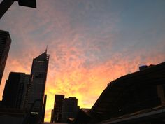 Melbourne at dawn.  Submitted by: rmwardle  April 30, 2012