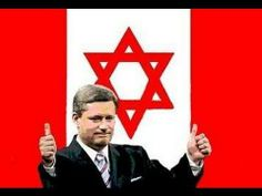 CANADA'S LEADER HECKLED IN ISRAEL Stephen Harper brought clubbed baby se...