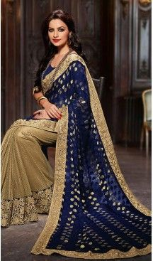 Navy Blue Color Chiffon Traditional Wear Saris Blouse | FH504176944 #party , #wear, #saree, #saris, #indian, #festive, #fashion, #online, #shopping, #designer, #usa, #henna, #boutique, #heenastyle, #style, #traditional, #wedding, #bridel, #casual, @heenastyle , #blouse, #prestiched, #readymade, #stitched , #Georgette , #embroidery