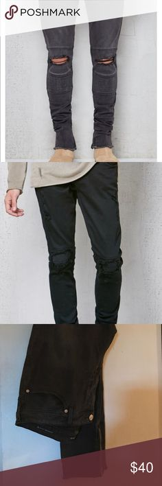 Men's Pacsun Stacked skinny moto destroyed jeans Excellent condition 36 x 32 PacSun Jeans Skinny