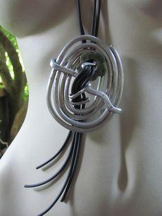 Ketten lang - Halskette lang  silber/grün/schwarz - extravagant  - ein Designerstück von BRI-Anderswelt bei DaWanda Washer Necklace, Etsy, Jewelry, Chains, Schmuck, Black, Jewlery, Jewerly, Jewels