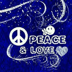 Peace & Love ✌Peace Sign Art with ♥Heart♥ & #smiley __[Peace sign Art by Kathy Nail]