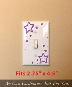 stars and night theme light switch decal by Vinylisyourfriend, $2.89