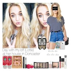 """Day with my bff (Lottie) at her house in Doncaster"" by fxrever-isnt-for-everyone ❤ liked on Polyvore featuring Jolie, Converse, Topshop, philosophy, NARS Cosmetics, H&M, shu uemura, Eos and Essie"