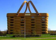 Strange and Fantastic Buildings: The Basket Building (Ohio, USA)