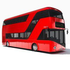 Wrightbus - Routemaster 2012 designed by Thomas Heatherwick.  Bonne base pour un véhicule post-apocalyptique... Version numérique...