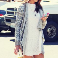 The Santa Clara Lace Dress! i have this sweater so now just need the dress :)