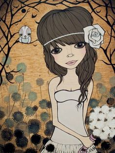 Beautiful illustration by Kelli Murray - lovin' the BIG eyes :)
