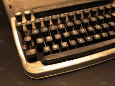 Vintage and Dusty Old Typewriter Photos A sepia photograph of an old, dusty typewriter. by Wing's Art Studio Technology Photos, Focus Photography, Vintage Typewriters, Tool Design, Stock Photos, Creative, Studio, Graphic Art, Horse