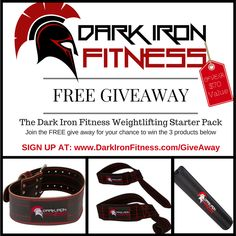 The Dark Iron Fitness Free Giveaway Contest – Weightlifting Starter Pack Healthy Style, Fitness Photos, Workout Gear, Workouts, Just Do It, Excercise, Weight Lifting, Health Fitness, Fitness Gear