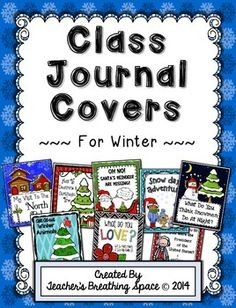 Whole Class Writing Journal Covers for Winter