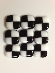 Customizable fused checkered glass tiles now available at Mosaic Tile Mania!  Over 300 color combinations to choose from.