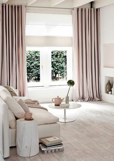 pink-modern-curtains-for-living-elegant interior - Wohnideen - Zimmer Design Curtains Living, Modern Curtains, Bedroom Curtains With Blinds, Apartment Curtains, Window Curtains, Luxury Curtains, Nursery Curtains, Hanging Curtains, Shower Curtains
