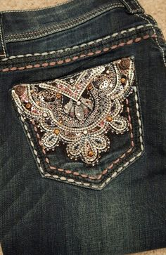 Show Diva Designs new junior fit dark wash bootcut jean with a open pocket. www.showdivadesigns.com