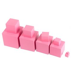 High Quality Wooden Montessori Mathematics Toys Pink Tower Solid Wood Cube 0.7-7CM Early Preschool Educational Children Day Gift #Affiliate