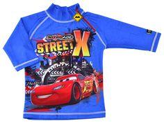 Sun Safe Kid's Cars UV Protective Shirt, Long Sleeves - UPF 50+