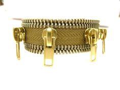 zipper bracelet, zipper pull bracelet, zipper jewelry, eccentric jewelry