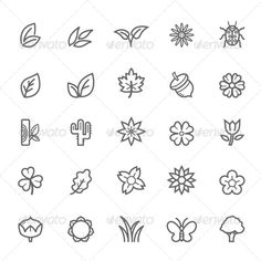 Buy 25 Outline Stroke Natural Icons by ctrlaplus on GraphicRiver. 25 Outline Stroke Natural Icons - Natural outline symbol icons - Easy to edit size and color - Available in AI, EPS, . Astronomy Tattoo, Leaf Outline, Tree Icon, Different Art Styles, Leaf Crafts, Decorate Notebook, Floral Illustrations, Grafik Design, Circle Design