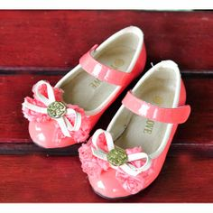 Pink Rosette Flower Pageant Girl Girls Holiday Party Dress Shoes SKU-133415