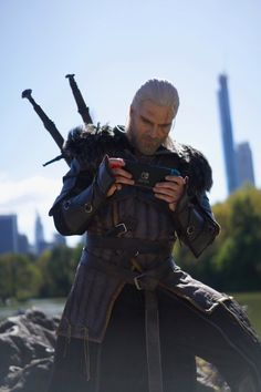 """""""There might not be that many places of power in New York City but, for sure, there's a lot of places to play Geralt: The Witcher Game, D&d Dungeons And Dragons, Wild Hunt, White Wolf, Medieval Fantasy, Photo Cards, Game Art, New York City, Video Games"""