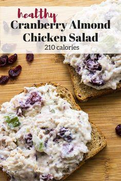 Healthy Cranberry Almond Chicken Salad