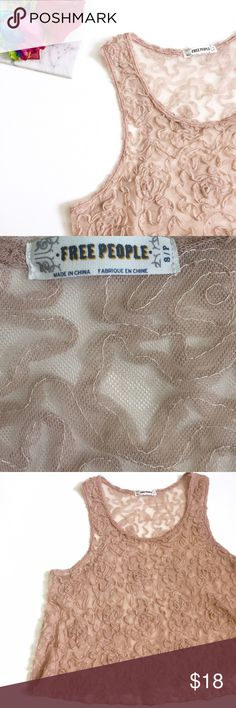 Free People Sheer Tank Top Good condition Free People Tops