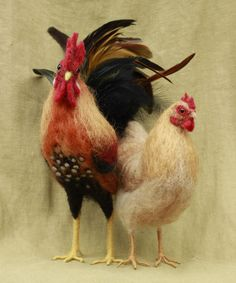 Special listing for Dianna needle felted rooster and by Ainigmati