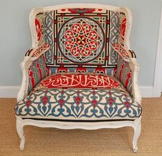 IDEA - Inspiration - painted frame on vintage chair
