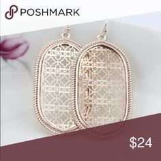 Earrings! Filigree Rose Gold Ovals Elegant rose gold! Perfect for anytime of the year! Jewelry Earrings
