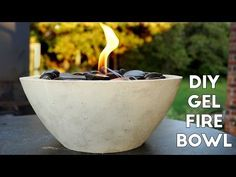 DIY Concrete Gel Fire Pit *EASY* , Modern Builds, EP. 6, My Crafts and DIY Projects