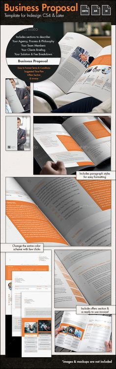 Business Proposal Template InDesign INDD #design Download: http://graphicriver.net/item/business-proposal-template-a4-portrait/14437875?ref=ksioks