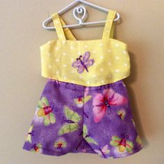 A Butterfly Lover's Sun Top and Butterfly by CraftySewAndSoLT