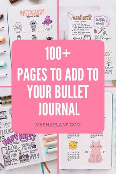 Starting on a Bullet Journal and not sure what pages to add? Check this guide with 100 creative ideas to add to your planner to help you organize every area of your life. Digital Bullet Journal, How To Bullet Journal, Bullet Journal Notebook, Bullet Journal Junkies, Bullet Journal Spread, Bullet Journal Ideas Pages, Bullet Journal Inspiration, Journal Pages, Bullet Journals