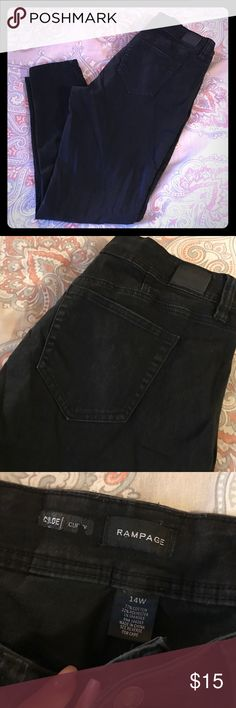 Rampage Chloe   Curvy jeggings 14W Black curvy jeggings by Rampage. Great used condition. Rampage Jeans Skinny