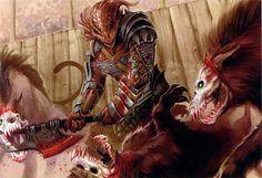 dragonborn warrior [by Eva Widermann]